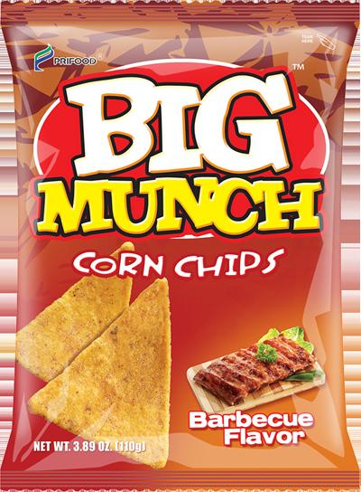 BIG MUNCH CORN CHIPS BBQ - 4800365601029 / 25X110G / 0.0830 / 4.00 / 12mos.
