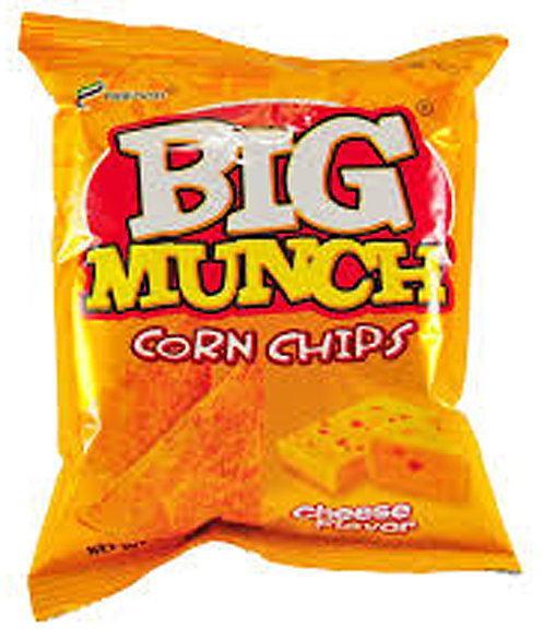 BIG MUNCH CORN CHIPS CHEESE - 4800365601012 / 25X110G / 0.0830 / 4.00 / 12mos.