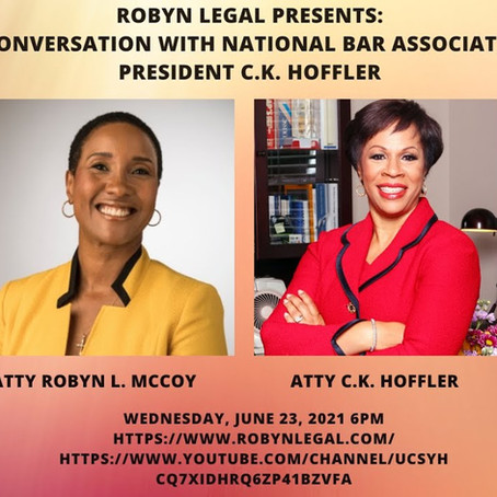 Robyn Legal Interview with NBA President CK Hoffler!