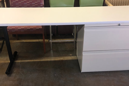 USED desk with lateral file