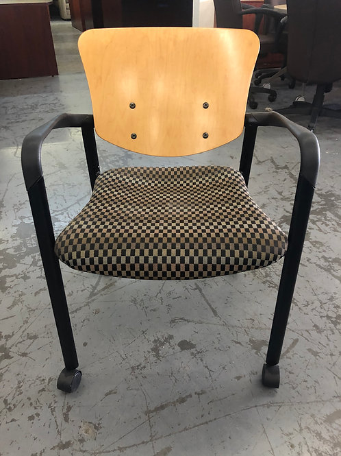 USED Maple Back Side Chair with casters