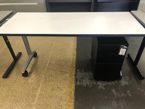 USED Rolling Desk with3 Drawer 3