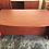 Thumbnail: USED Bowfront Desk and Credenza Combo
