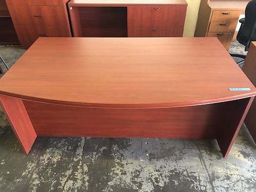 USED Bowfront Desk and Credenza Combo