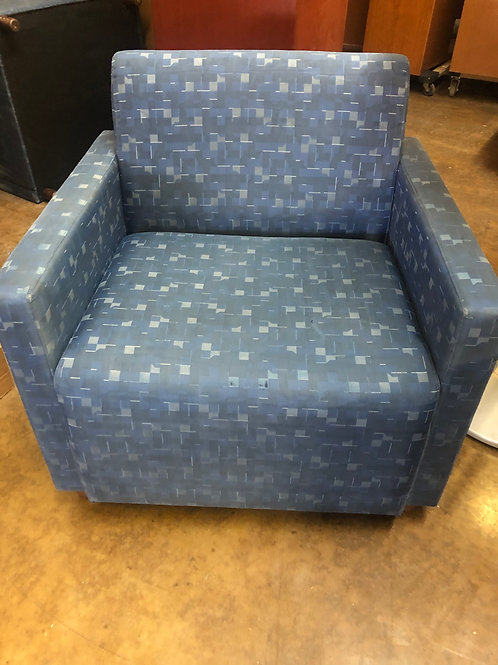 USED Lobby Chair in Blue Fabric