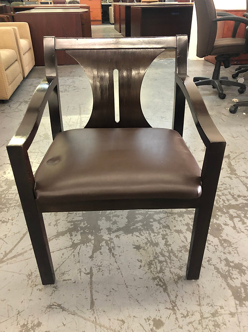 USED side chair with leather seat