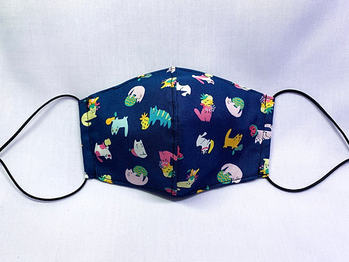 Tropical cats (fabric mask)