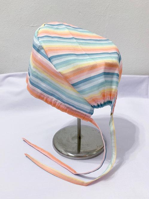 Pastel rainbow (scrub cap)
