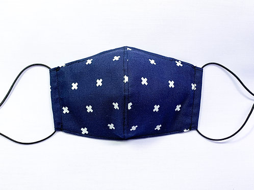 XOXO (navy) (fabric mask)