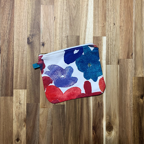 Watercolour floral (pouch)