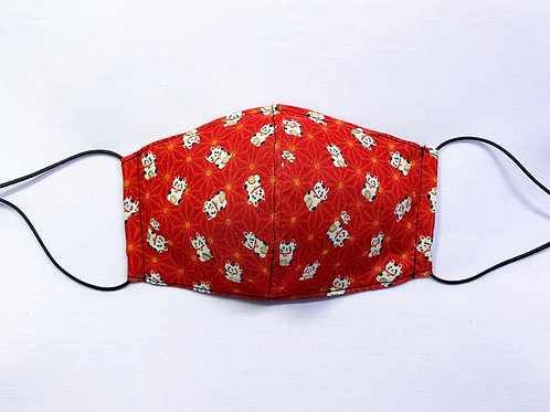 Fortune cats (red) (fabric mask)