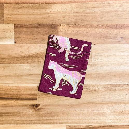 Tiger (maroon, metallic) (pinch pouch)