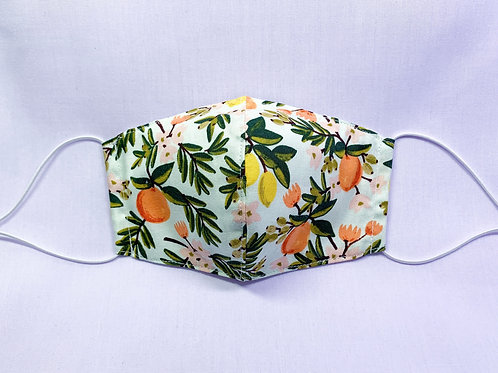 Citrus floral (fabric mask)