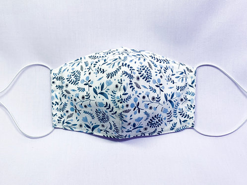 Winter floral (white) (fabric mask)