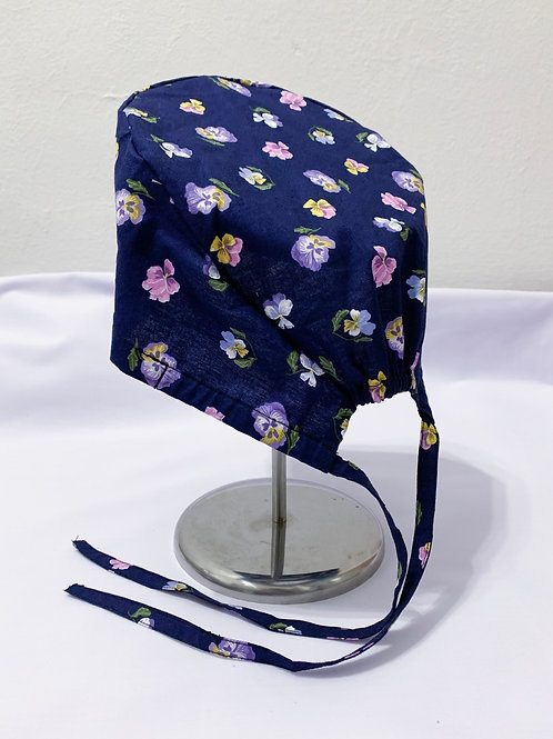 Pansies (scrub cap)