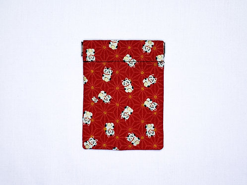 Fortune cat (red) (pinch pouch)