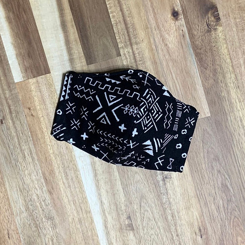 Tribal (black) (fabric mask)