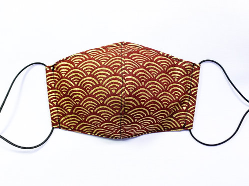 Gold wave (fabric mask)