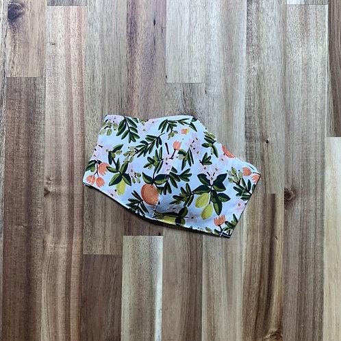 Citrus floral (cream) (fabric mask)