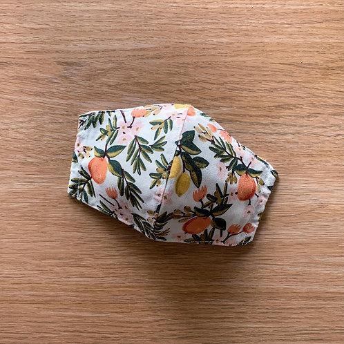 Citrus floral (mint) (fabric mask)