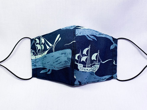 Whale ships (fabric mask)