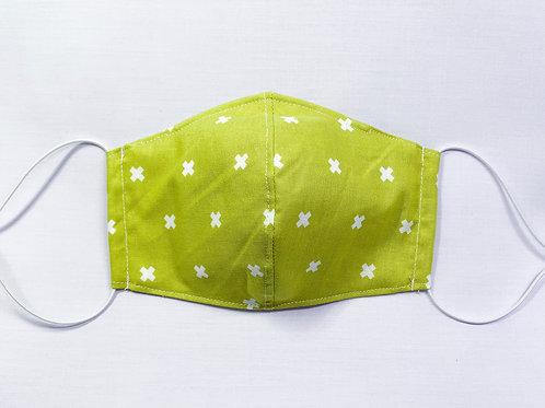 XOXO (chartreuse) (fabric mask)