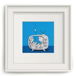 Pesci in tv blu