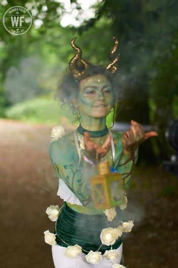 Antonia Beckoning with Smoke Wood Nymph.