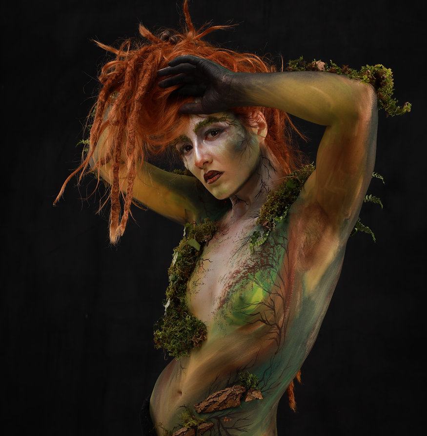 Ginger dryad moss creature
