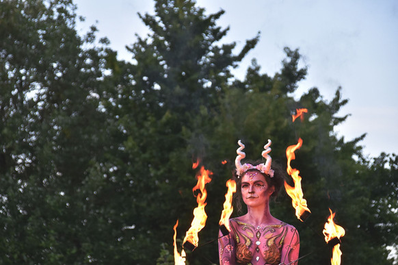 Fire Faun in Action