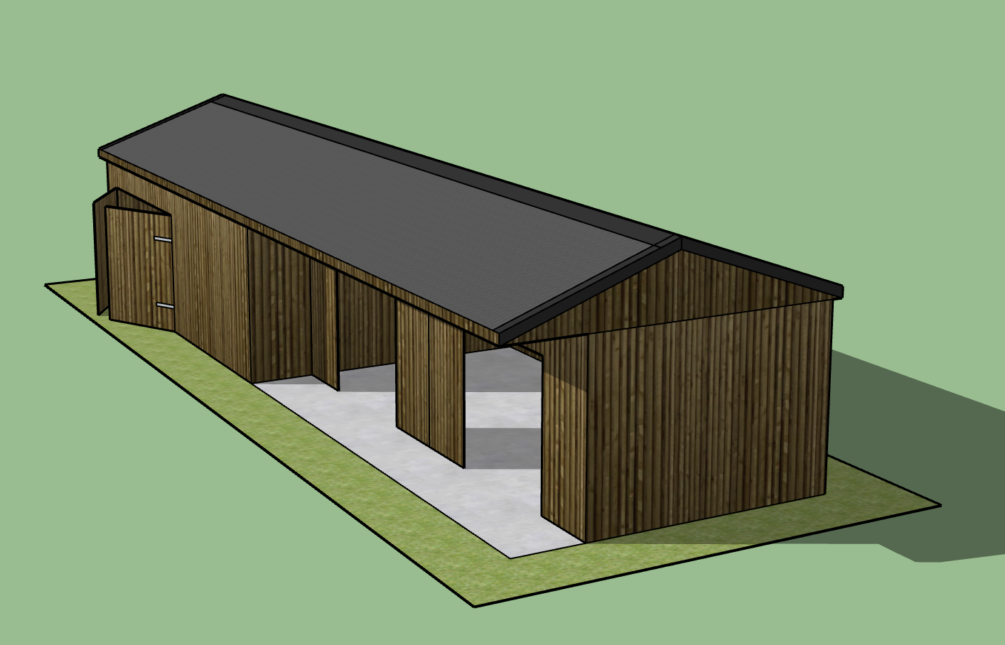 Double Stables & Garage