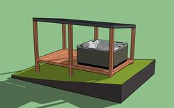 Hot Tub Decking & Shelter