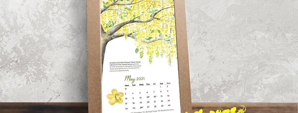 2021 Desk Calendar: Flowering Trees