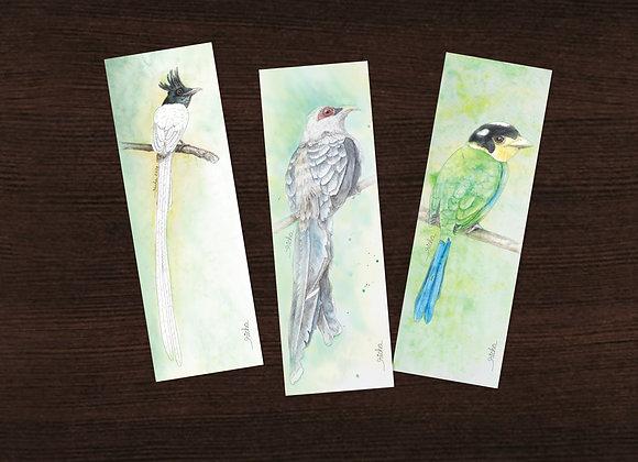 3 Bird Bookmarks