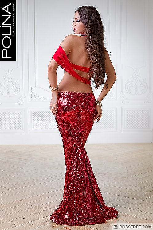 Red sequin not-open-leg