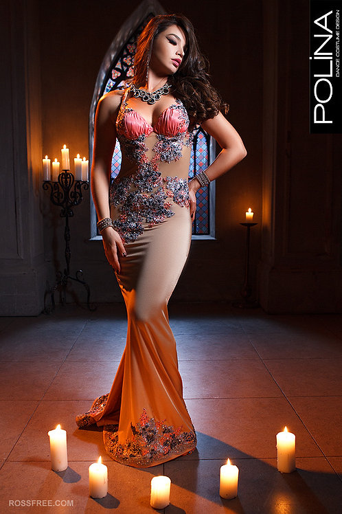 Riga nude dress for bellydance