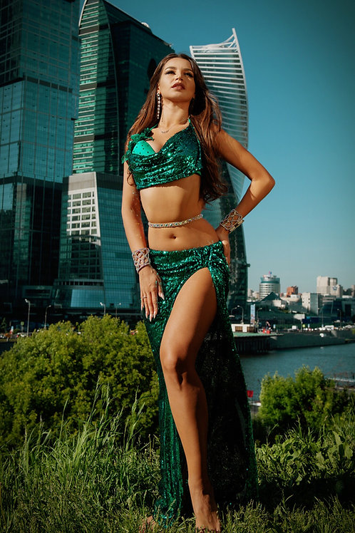 Emerald sequin