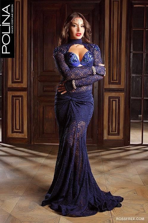 Elegant navy dress