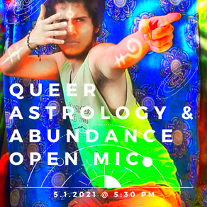 Join the RCC Garden at our Queer Astrology Open Mic!
