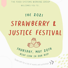 The 2021 Strawberry & Justice Festival