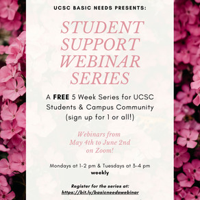Join UCSC Basic Needs Webinar Series!
