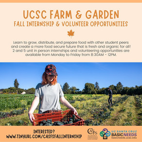 Fall Internships at UCSC Farm & Garden