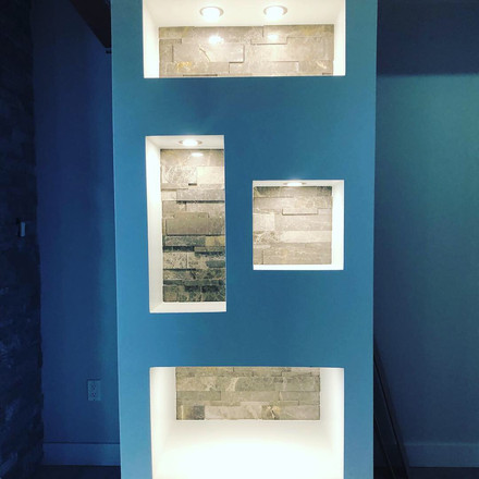 Matching Shelves to Fireplace