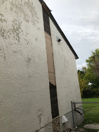 Chimney Removal Patch Before