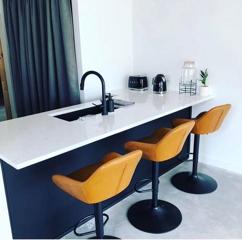 Modern Black & White Kitchen (A3)