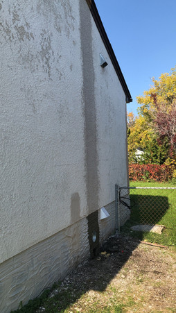 Chimney Removal Patch After (Wet)
