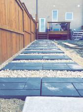 Cost Effective Patio Stone Path