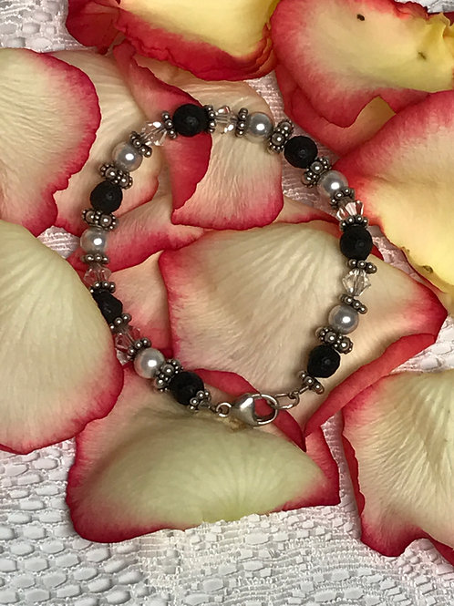 Pearls and Roses Bracelet