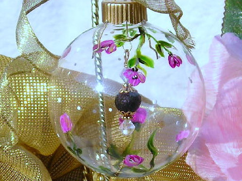 Ornament with Rose Bead in Center