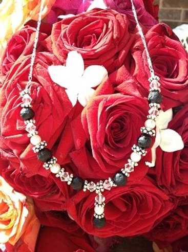 Pearls and Roses Demi-Necklace